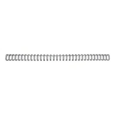 GBC Binding Wire Elements 34 Loop for 55 Sheets 6mm A4 Black Ref RG810410 [Pack 100]