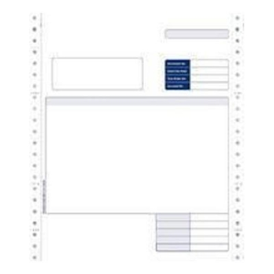 Sage Compatible Multipurpose Form 2 Part NCR Paper with Tinted Copies Ref SE02 [Pack 1000]