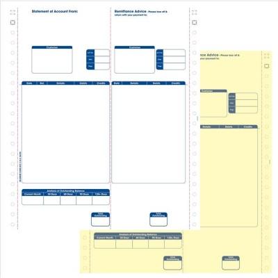 Sage Compatible Statements Tear-off Remittance Portion 2 Part Ref SE12 [Pack 1000]