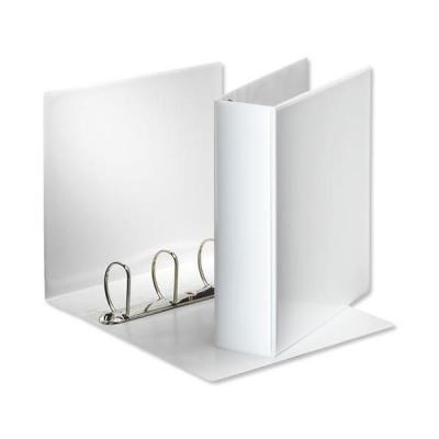 Esselte Presentation Ring Binder Polypropylene 4 D-Ring 60mm A4 White Ref 49706