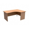 Trexus Classic Radial Desk Panelled Right Hand W1600xD1200xH725mm Beech