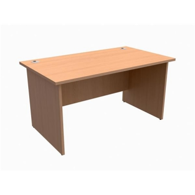 Trexus Classic Desk Panelled Rectangular W1400xD800xH725mm Beech