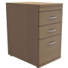 Trexus Filing Pedestal Desk-High 3-Drawer W400xD600xH725mm Oak