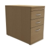 Trexus Mobile Filing Pedestal Desk-High 3-Drawer W400xD800xH725mm Oak