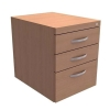 Trexus Fixed Pedestal for Cantilever Desk 3-Drawer W400xD525xH470mm Beech