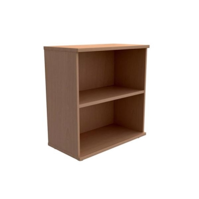 Trexus Low Bookcase with Adjustable Shelf and Floor-leveller Feet W800xD420xH853mm Beech
