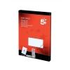 5 Star Multipurpose Labels Laser 2 per Sheet 199.6x143.5mm White [200 Labels]