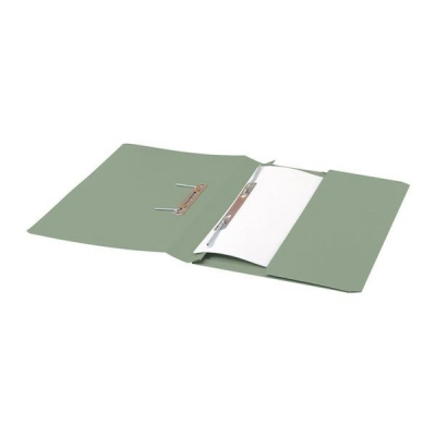 5 Star Transfer Spring File with Pocket 285gsm 38mm Foolscap Green [Pack 25]