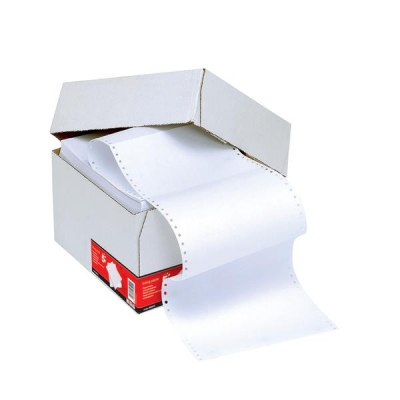 5 Star Listing Paper 1-Part Microperforated 70gsm 11inchx389mm Plain [2000 Sheets]