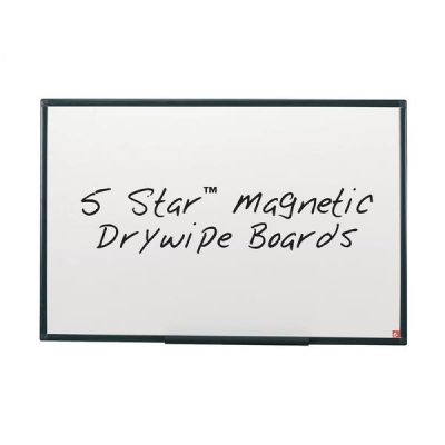 5 Star Drywipe Board Magnetic Lightweight with Fixing Kit and Detachable Pen Tray W900xH600mm