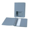 5 Star Flat File with Pocket Recycled Manilla 285gsm 38mm Foolscap Blue [Pack 25]