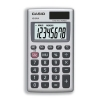 Casio Calculator Handheld Battery/Solar-power 8 Digit 3 Key Memory 57x102x8mm Ref HS8V-S-U-H