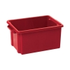 Strata Storemaster Crate Jumbo External W560xD385xH280mm 48.5 Litres Red Ref HW48