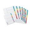 Concord Index Multicolour-tabbed Mylar-Reinforced 4 Holes 1-50 A4 White Ref CS50