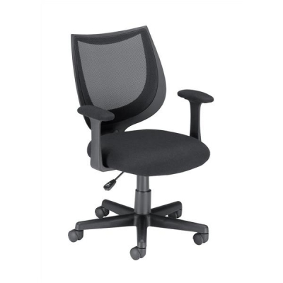 Influx Gleam SoHo Operator Armchair Mesh Seat W470xD480xH410-510mm Black Ref 11027-03