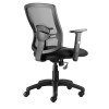Influx Task Mesh Back Armchair Seat W500xD480xH450-550mm Black Ref 10892-02