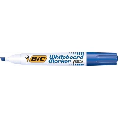 Bic Velleda 1751 Whiteboard Marker Chisel Tip Line Width 3.7-5.5mm Blue Ref 904947 [Pack 12]