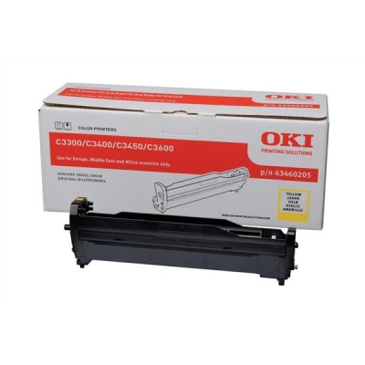 OKI Laser Drum Unit Page Life 15000pp Yellow Ref 43460205