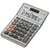 Casio Calculator Euro Desktop Battery/Solar-power 12 Digit 3 Key Memory 103x137x31mm Ref MS-120BM