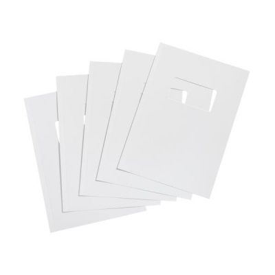 5 Star Binding Covers 250gsm with Window A4 Gloss White [Box 50 Pairs]