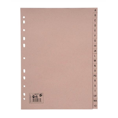 5 Star Manilla Index A-Z 20-Part 150gsm A4 Buff Manilla