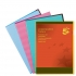 5 Star Folder Cut Flush Polypropylene Copy-safe Translucent A4 Red [Pack 25]