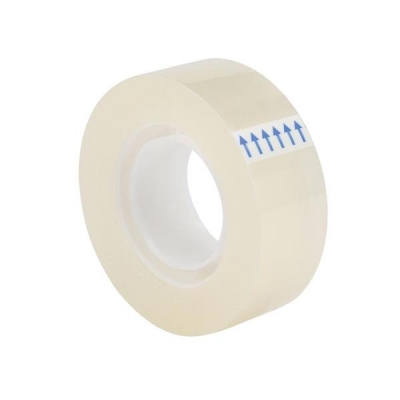5 Star Clear Tape Roll Small Easy-tear Polypropylene 40 Microns 19mm x 33m [Pack 8]