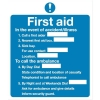 Stewart Superior Sign First Aid Sign W230xH195mm Self-adhesive Vinyl Ref KS006SAV