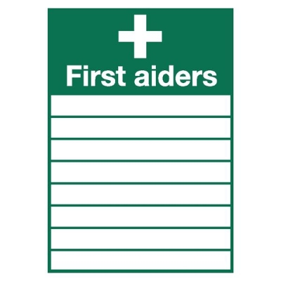 Stewart Superior Sign First Aiders W355xH255mm Self-adhesive Vinyl Ref KS007SAV