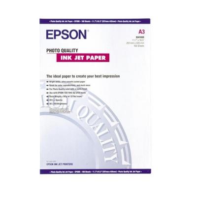 Epson Photo Quality Inkjet Paper Matt 102gsm Max.1440dpi A3 Ref S041068 [100 Sheets]