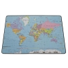 Durable World Map Desk Mat PVC Non-slip Base W530xD400mm Ref 7211/19