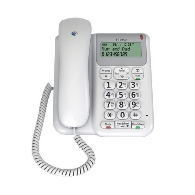 BT Decor 2200 Telephone 3-line LCD 50-entry Phonebook 30 Caller IDs Ref 061127