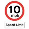 Stewart Superior Speed Limit Sign 10MPH for Outdoor Use Polypropylene W450xH600mm Ref KS012