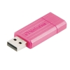 Verbatim PinStripe Drive USB 2.0 Retractable Read 10MB/s Write 4MB/s 8GB Pink Ref 47397
