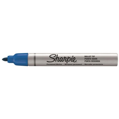 Sharpie Metal Permanent Marker Small Bullet Tip 1.0mm Line Blue Ref S0945730 [Pack 12]