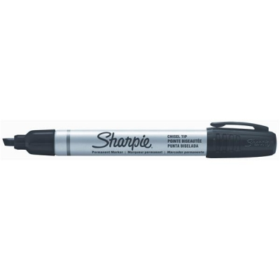 Sharpie Metal Permanent Marker Small Chisel Tip 4.0mm Line Black Ref S0945770 [Pack 12]