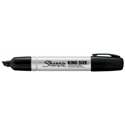 Sharpie Metal Permanent Marker Medium Chisel Tip 6.2mm Line Black Ref S0949820 [Pack 12]