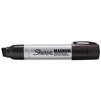 Sharpie Magnum Metal Permanent Marker Large Chisel Tip 14.8mm Line Black Ref S0949850 [Pack 12]