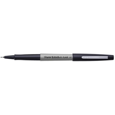 Papermate Ultrafine Felt Tip Pen 0.8mm Tip 0.4mm Line Black Ref S0901320 [Pack 12]