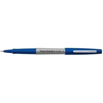 Papermate Ultrafine Felt Tip Pen 0.8mm Tip 0.4mm Line Blue Ref S0901330 [Pack 12]