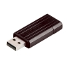 Verbatim PinStripe Drive USB 2.0 Retractable Read 10MB/s Write 4MB/s 16GB Black Ref 49063