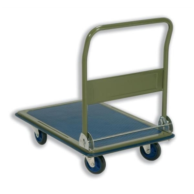 5 Star Platform Truck Heavy-duty Capacity 300kg Baseboard W616xL916mm Blue and Grey