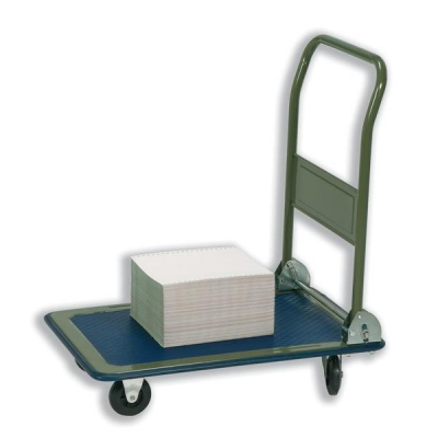 5 Star Platform Truck Medium-duty Capacity 150kg Baseboard W475xL735mm Blue and Grey