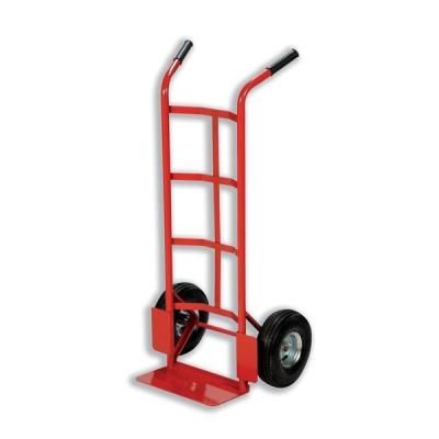 Hand Trolley Heavy-duty Capacity 200kg Wheel 255mm Foot Size W555xL425mm Red Ref HT1830 [321428]