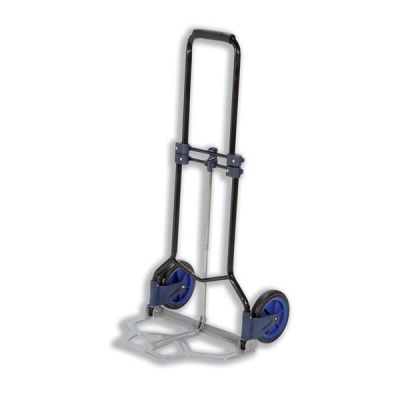 5 Star Hand Trolley Folding Capacity 70kg Foot Size W480xL470mm Black and Blue