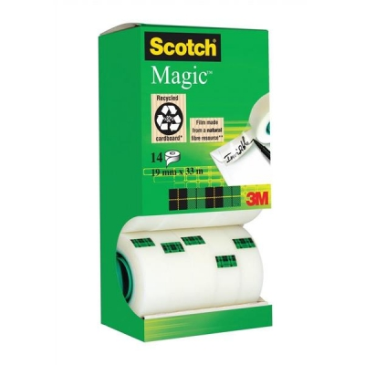 Scotch Magic Tape 12 rolls with 2 FREE rolls 19mmx33m Ref 81933R14