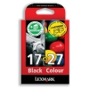 Lexmark No. 17 and No. 27 Inkjet Cartridge Page Life 205/104pp Black/Colour Ref 80D2952 [Pack 2]