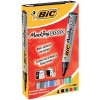Bic Marking 2000 Permanent Marker Bullet Tip Line Width 1.7mm Assorted Ref 820911 [Pack 4]