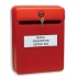 Post or Suggestion Box Wall Mountable with Fixings Red