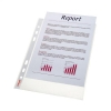 Esselte Standard Pocket Heavyweight Polypropylene Multipunched Top-opening A5 Clear Ref 47183 [Pack 25]